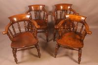 Set of 8 Captains Chairs Ash & Elm (9 of 13)