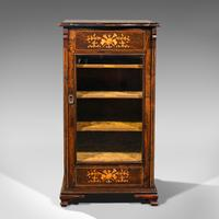Antique Music Cabinet, English, Rosewood, Display Case, Inlay, Victorian c.1870 (3 of 12)