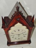 Regency Mahogany Gothic Bracket Clock (2 of 12)