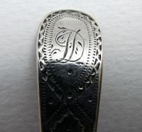 "Monogram ""D"" Antique George III Solid Sterling Silver Bright-cut Georgian Tea/Coffee Spoon, 18th-Century English Hallmarked (9 of 9)"