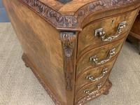 Burr Walnut Pedestal Desk by Maple and Co (11 of 18)