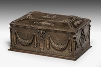19th Century Bronze Casket