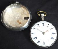 Antique Silver Pair Case Pocket Watch Fusee Verge Escapement Key Wind Enamel J Crainbrook (2 of 10)