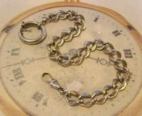 Antique German Pocket Watch Chain 1920s Ornate Silver Nickel Fancy Albert (2 of 11)