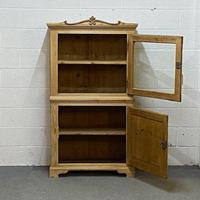 Attractive Small Pine Display Cabinet C.1900 (2 of 4)