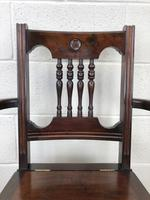 Antique Edwardian Mahogany Commode Armchair (4 of 9)