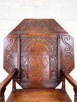 Large Early 20th Century Antique Oak Monk's Seat (4 of 10)
