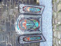 Arts & Crafts Leaded Glass Fire Screen (5 of 14)