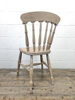 Set of Four Antique Spindle Back Kitchen Chairs (9 of 9)