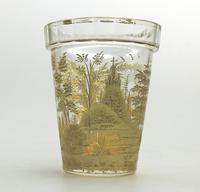 An Extremely Rare & Exceptional St Hubert Gilt Glass Beaker C.18th/early 19thc (2 of 10)
