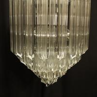Italian Venini Crystal Triple Light Chandelier (7 of 10)