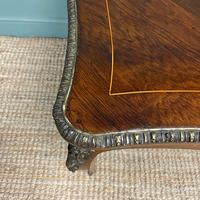 Stunning Large 19th Century Kingwood Antique Writing Table (3 of 8)