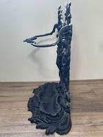 Art Nouveau Style Black Heavy Cast Iron French Nubile Umbrella Stand Corneau Alfred A Charlesville No 27 (36 of 41)