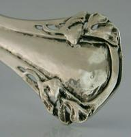 Stunning Arts & Crafts Nouveau Sterling Silver Tea Strainer Plannished c.1900 (4 of 7)