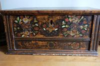 19th Century Austrian Folk Art Painted Pine Coffer (7 of 23)