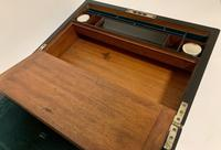 Antique Victorian Rosewood Abalone Mother of Pearl Inlaid Writing Slope Box (5 of 13)