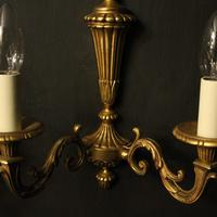 French Pair Of Gilded Bronze Twin Arm Wall Lights (8 of 10)