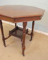 Antique Walnut Shaped Occasional Centre Table (4 of 6)