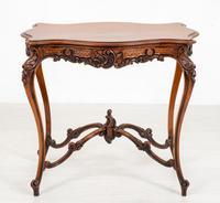 Pretty French Walnut Occasional Table (9 of 10)