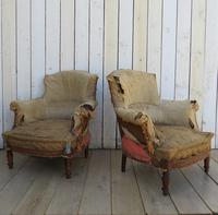 Pair of French Tub Armchairs for re-upholstery (9 of 9)