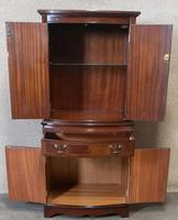 Mahogany Bow Front Cocktail Drinks Cabinet / Strongbow Furniture (4 of 10)