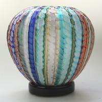 Museum Quality Very Fine Gino Cenedese Murano Vetri Textured Vase - Mid 20th Century (4 of 11)