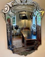 Large Engraved Venetian Mirror (3 of 4)