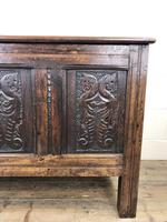 18th Century Carved Oak Coffer (9 of 10)