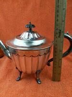Antique Silver Plate Sheffield Teapot - Art Deco  C1920 (3 of 11)