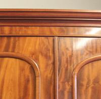 Antique Victorian Mahogany Triple Door Wardrobe (21 of 21)
