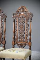 Pair William & Mary Style Chairs (3 of 12)