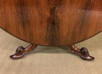 Victorian Round Rosewood Loo Table (8 of 17)