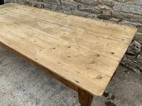 Large Antique Pine Farmhouse Table on Turned Legs (18 of 19)