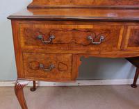 Burr Walnut Queen Anne Style Triple Mirror Dressing Table (9 of 13)