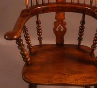 Good Victorian Broad Arm Windsor Chair (5 of 9)
