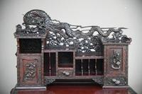 Carved Japanese Meiji Desk (3 of 12)