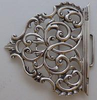 Rare Scottish Victorian 1897 Hallmarked Solid Silver Nurses Belt Buckle Glasgow (5 of 8)