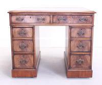 18th Century Mahogany Pedestal Writing Desk (3 of 12)