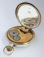 Antique Silver Buren Half Hunter Pocket Watch (5 of 6)
