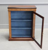 19th Century Walnut & Banded Display Bookcase (2 of 7)