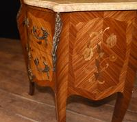 Antique French Commode Nightstand - Bombe Chest (6 of 8)