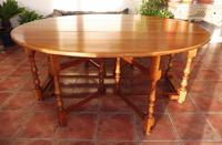 Fruitwood Wake Table extends 6 foot 1920s