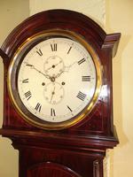 Scottish Georgian Mahogany Longcase Clock - Round Dial (4 of 10)