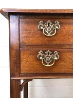 Antique Oak Side Table (3 of 9)