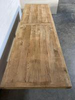 Enormous French Bleached Oak Farmhouse Dining Table (13 of 38)