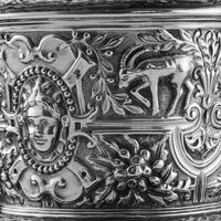 Rare Antique Solid Silver Cellini Tea Caddy Box - Mappin & Webb 1902 (26 of 28)