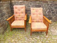 Pair of Arts & Crafts Reclining Chairs (12 of 12)