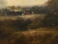Victorian Oil Painting English Norfolk Landscape Rustic c.1860 Arcadia (12 of 17)