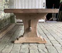 Huge French Bleached Oak Farmhouse Refectory Dining Table (3 of 11)