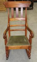 1910s Mahogany Country Style Rocking Chair